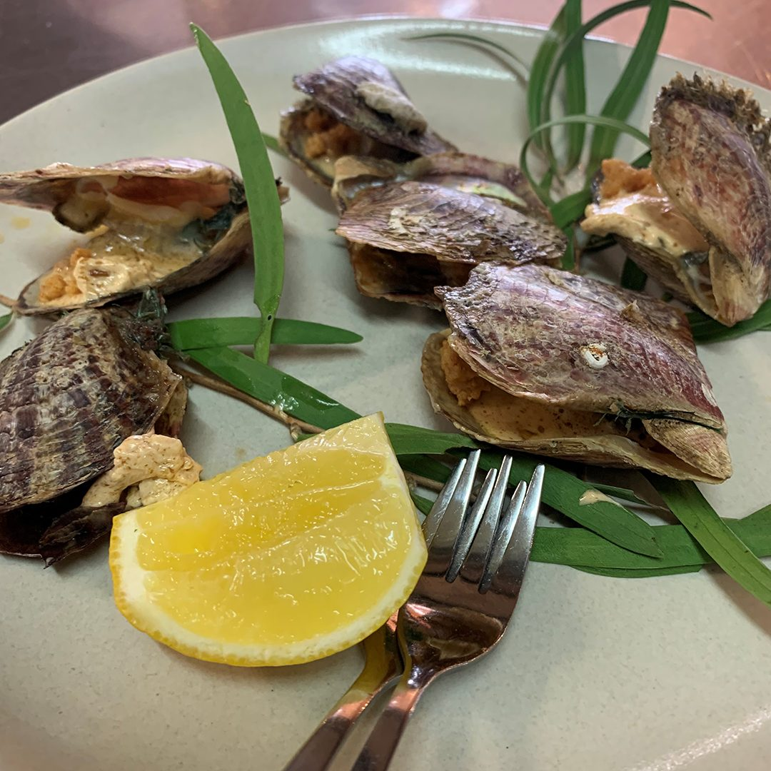 """Pearl Oysters 'Kilpatrick""""<br/><br/>By Guy Jeffreys<br/>Fogarty Wine Group"""